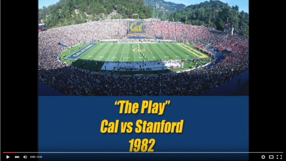 """Click on the picture for """"The Play"""" from 1982's Big Game"""
