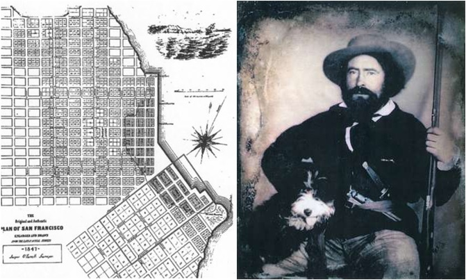 Jasper O'Farrell and his 1847 map
