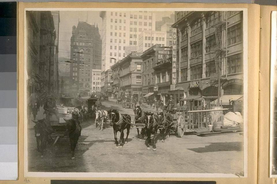 Market Street Looking West in the 1890s