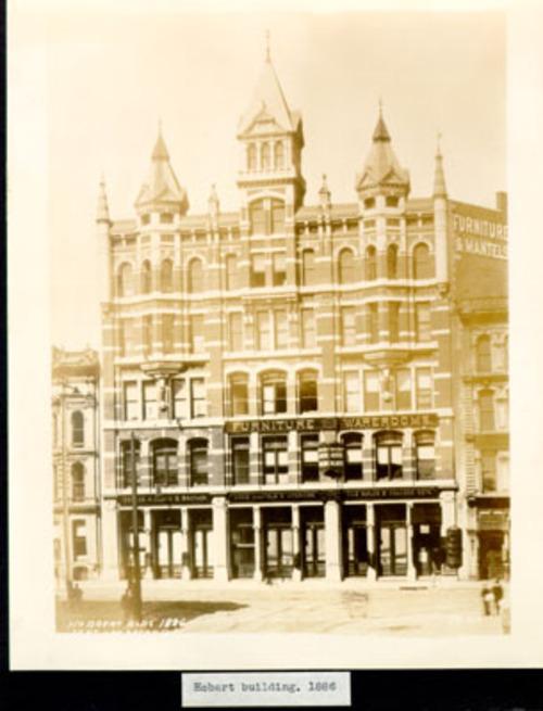Original Hobart Building in 1866