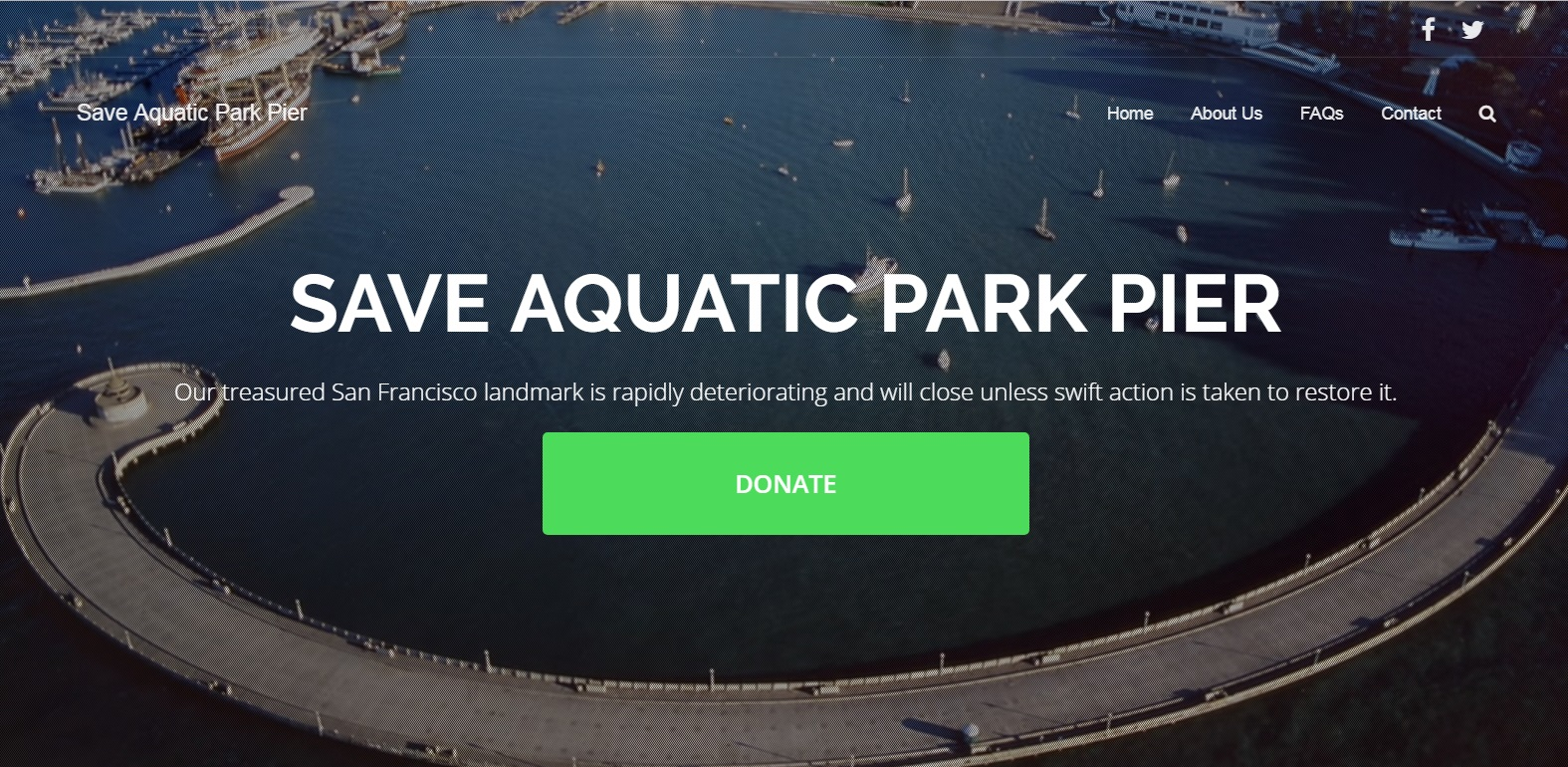 Click on the picture above to get more information about the effort to save Aquatic Park [Muni] Pier
