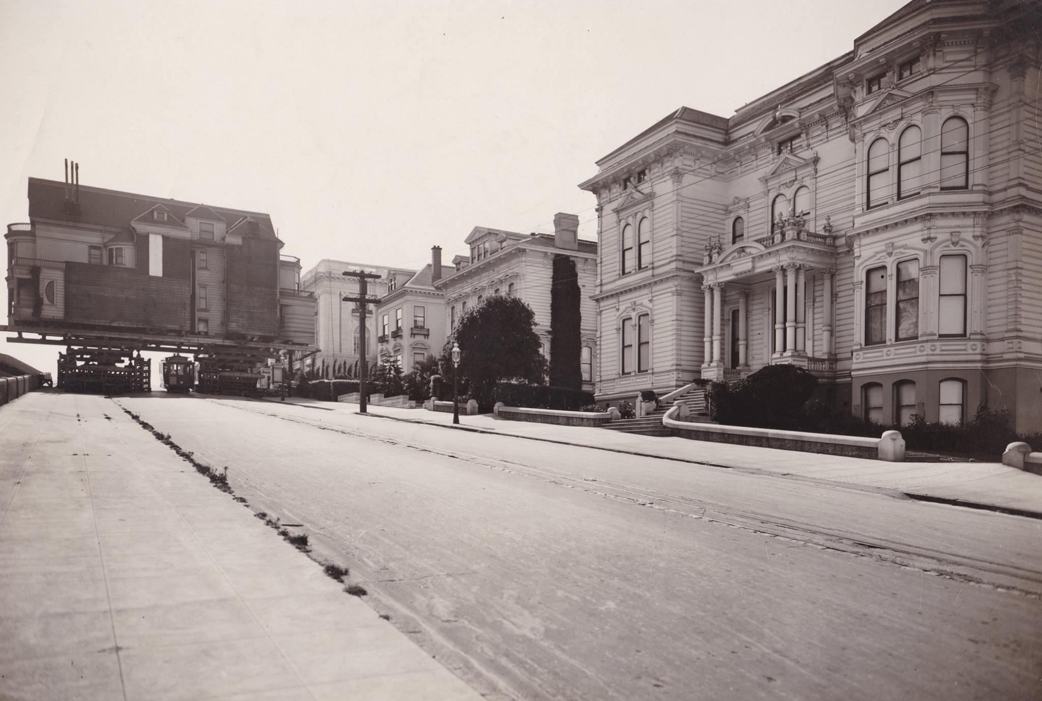 Moving Spreckles Mansion 1914