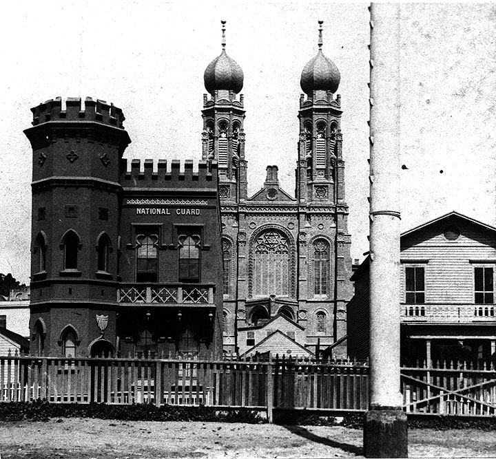 The Armory, NW corner, 1870