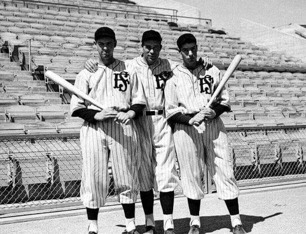 Lefty, Joe DiMaggio, & Joe Marty 7/11/35