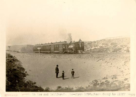 California St. steam dummy to the Cliff House 1890
