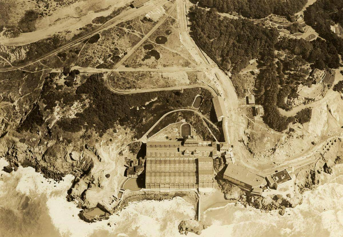 Adolph Sutro designed a system to pump, clean and heat ocean water
