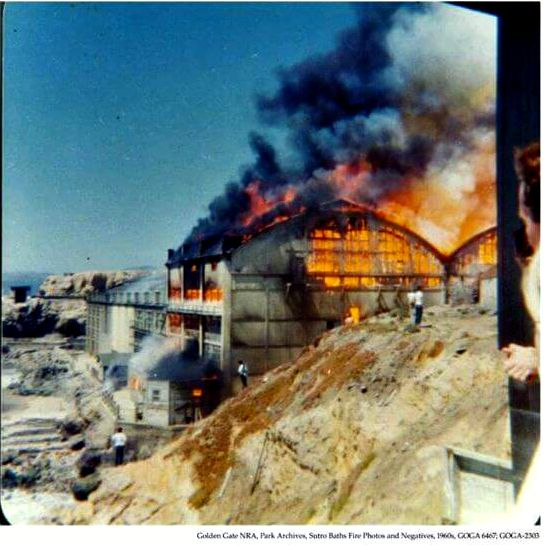 Fire in 1966 shortly after the baths had closed for good