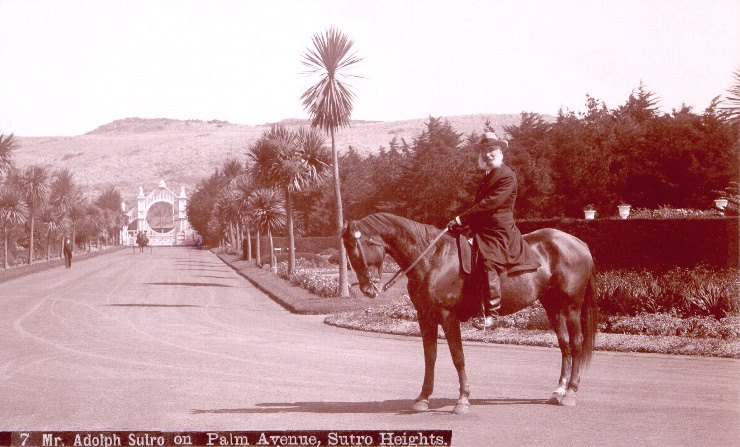 Adolph Sutro on Palm Ave. 1890