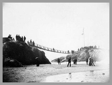 Swing Bridge to Flag/Fisherman's Rock 1885