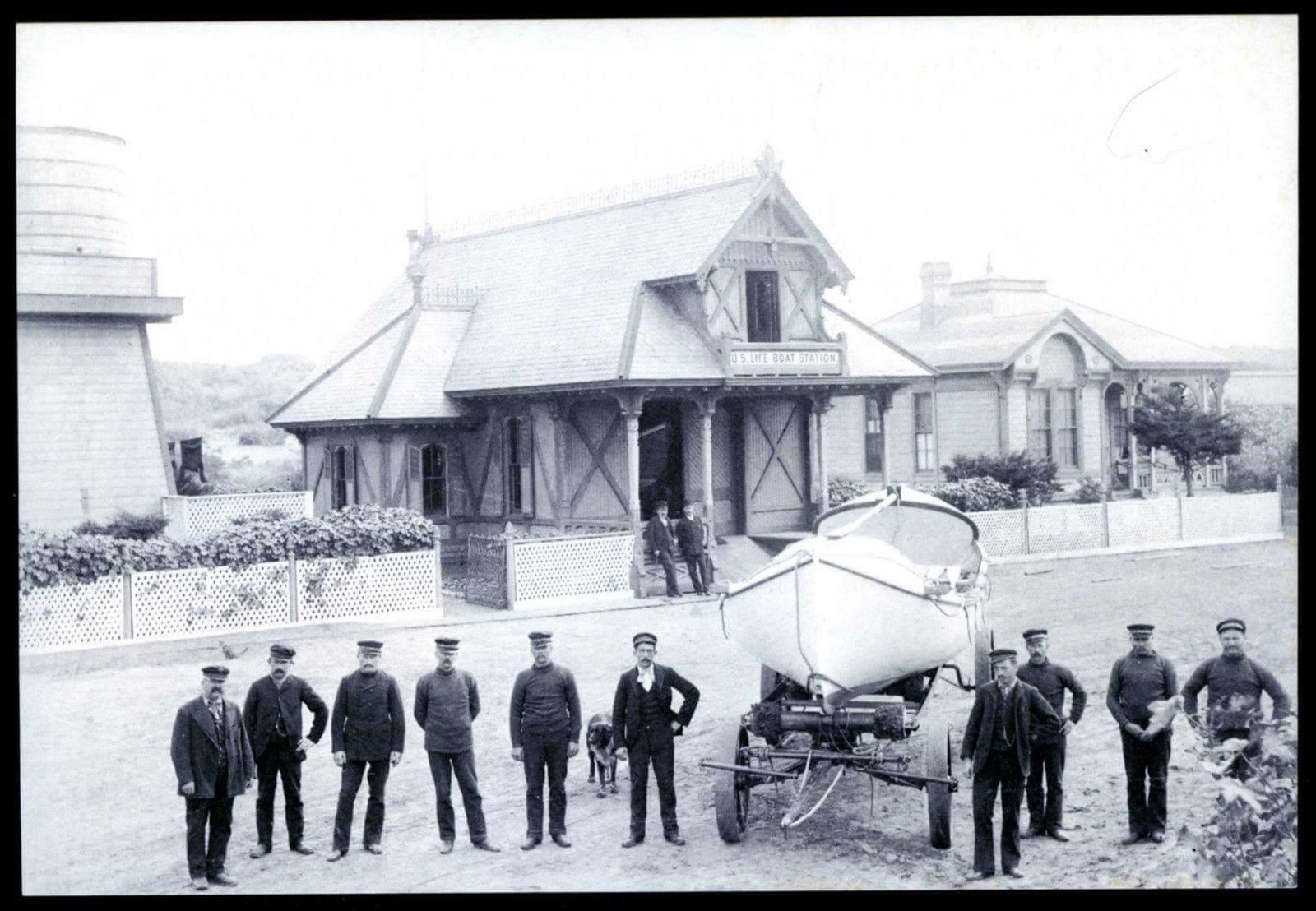 US Life boat station 1890