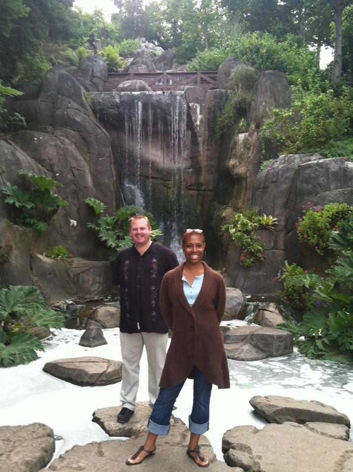 SK & Babette at Huntington Falls