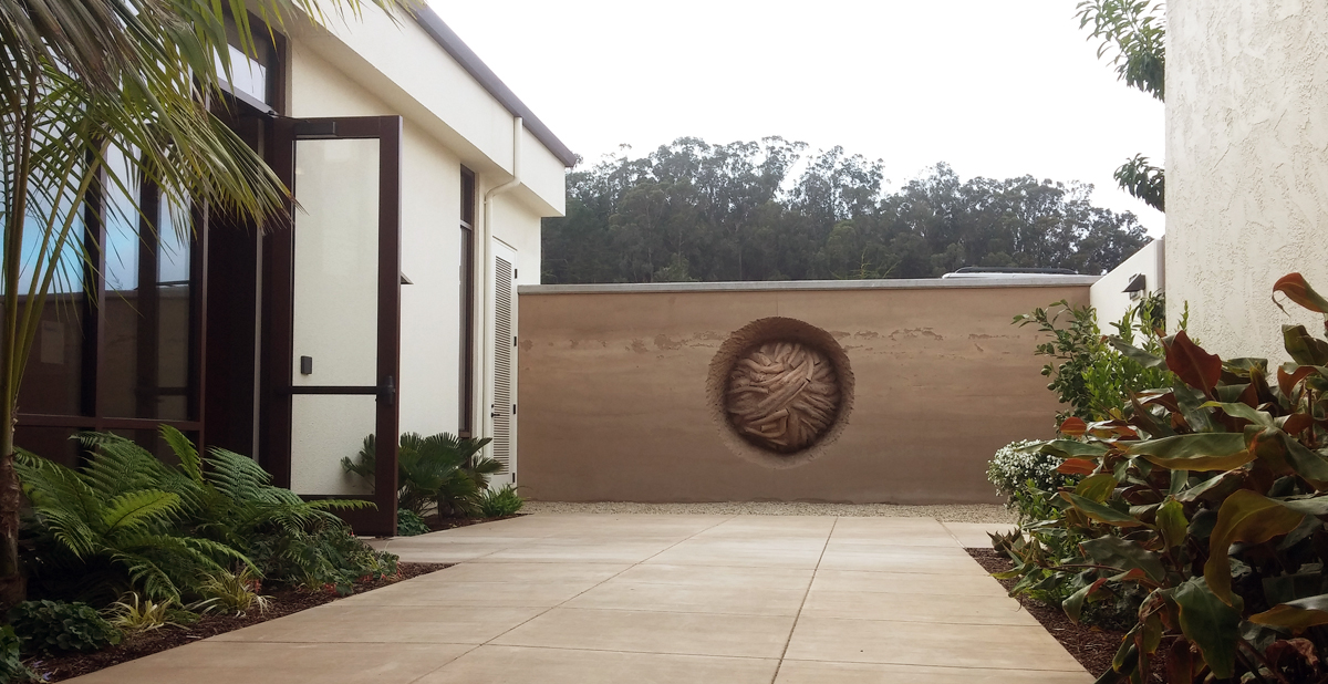 Earth Wall at the Officer's Club