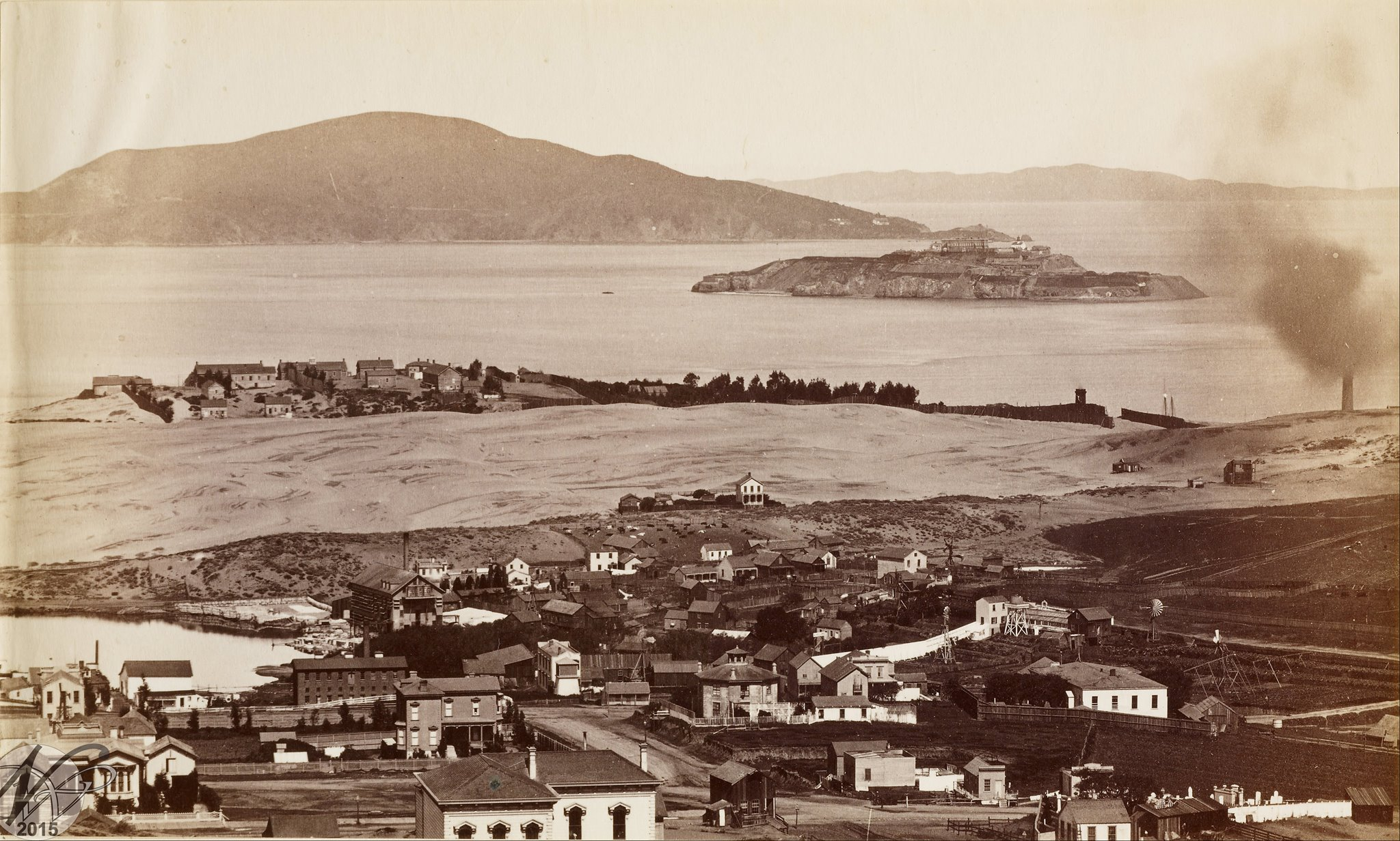 In the 1850s, what is now the Marina was a swath of sand dune.
