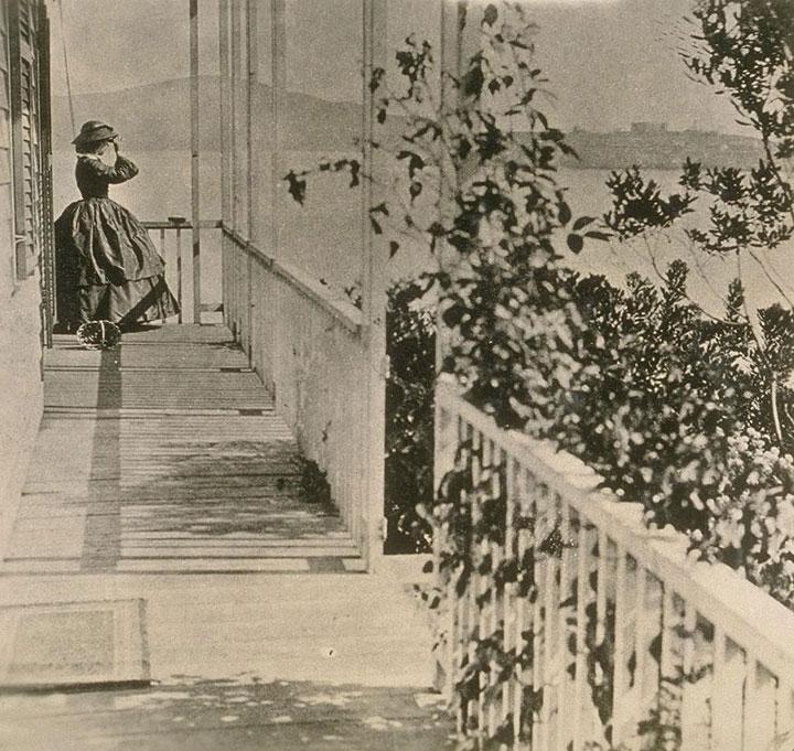 Mrs. Jessie Benton Fremont at home in Gen. Vallejo's former house in Black Point 1863