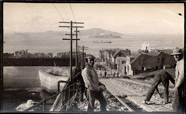 Hyde St. Cable Car Line w/ reservoire left