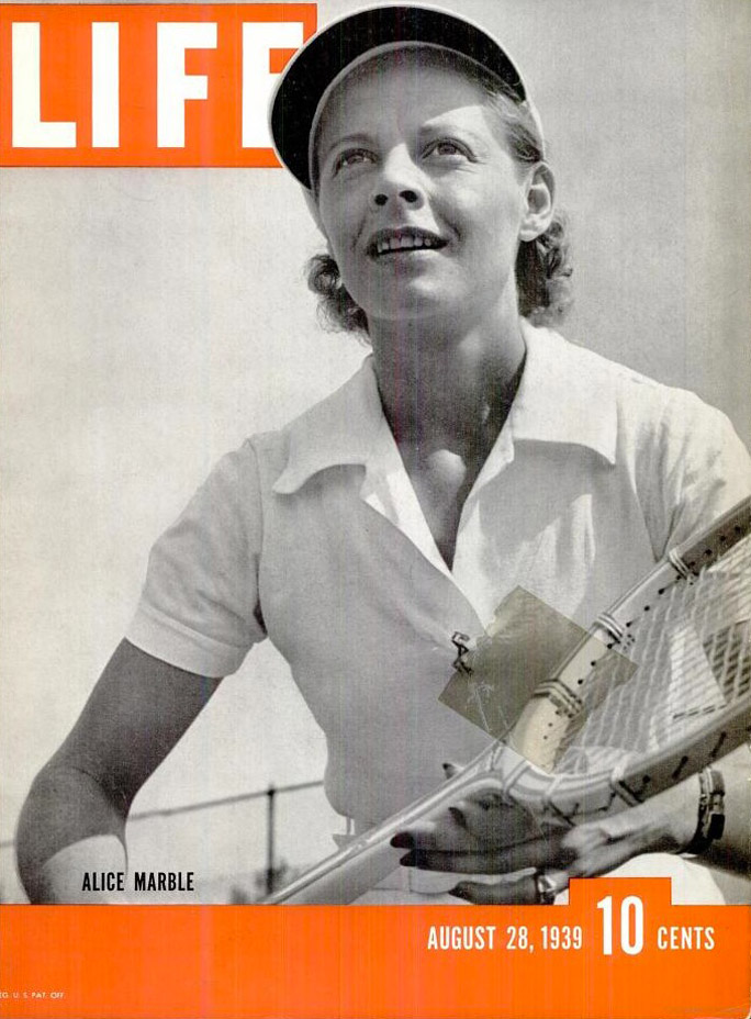 Alice Marble was a world No. 1 tennis player with 18 Grand Slam championships