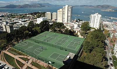 Alice Marble tennis courts, Hyde st.