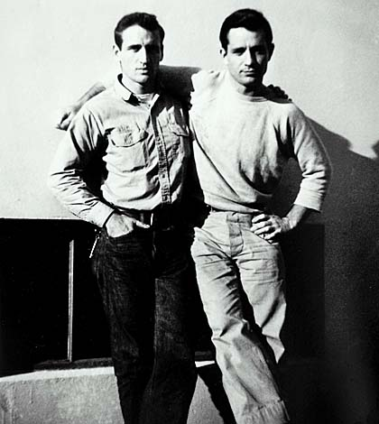 Jack Karouac & Neal Cassady on Russell Alley