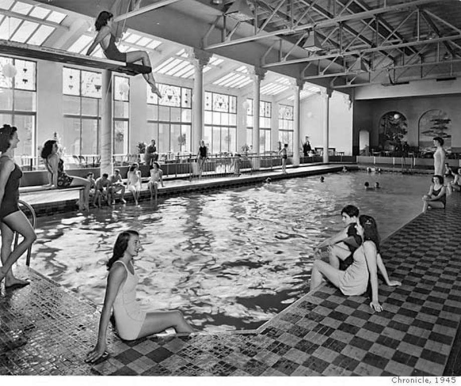 Fairmont Terrace Plunge 1945 - Now the Tonga Room