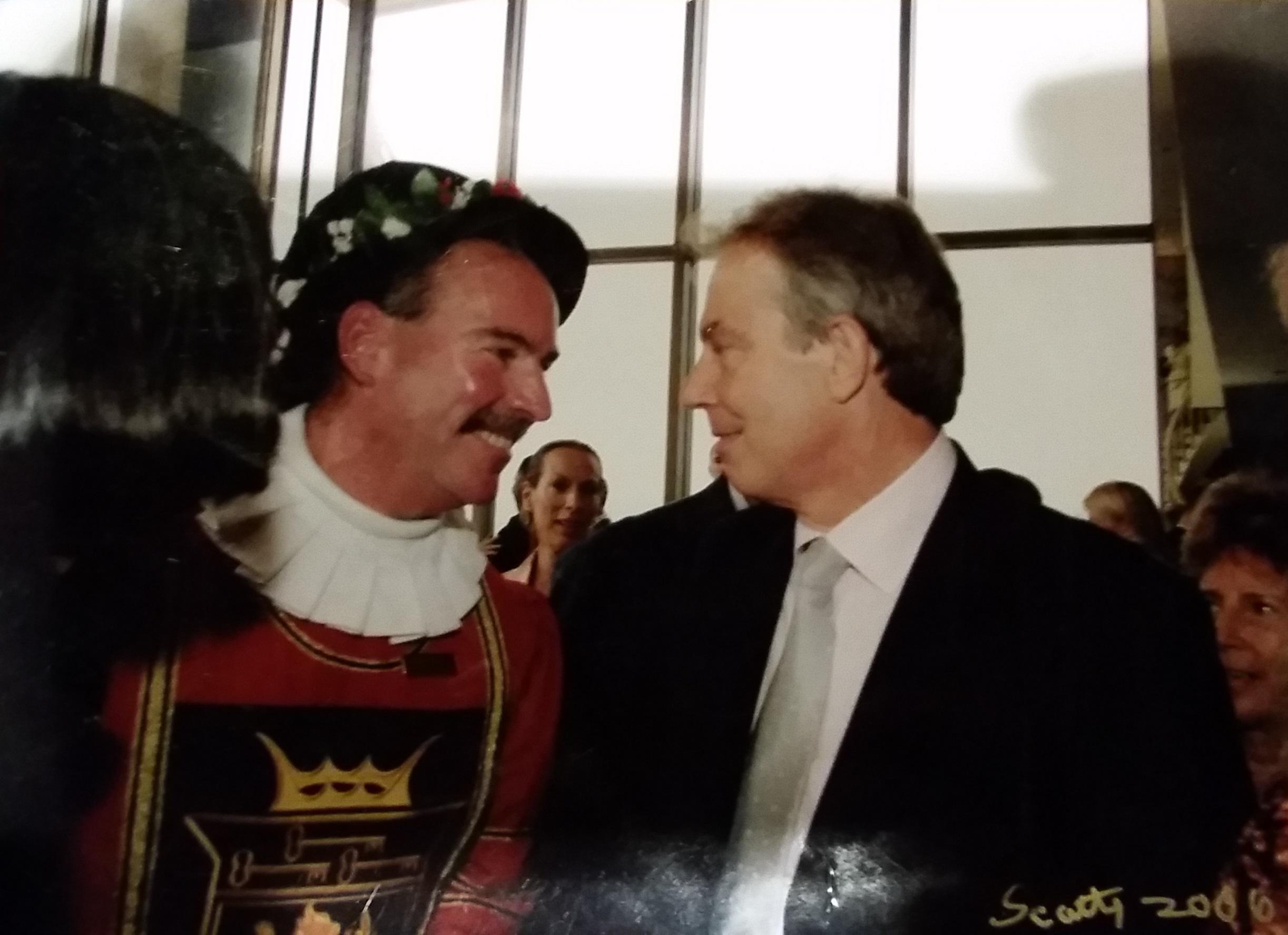 Tom's drinking buddy, Tony Blair