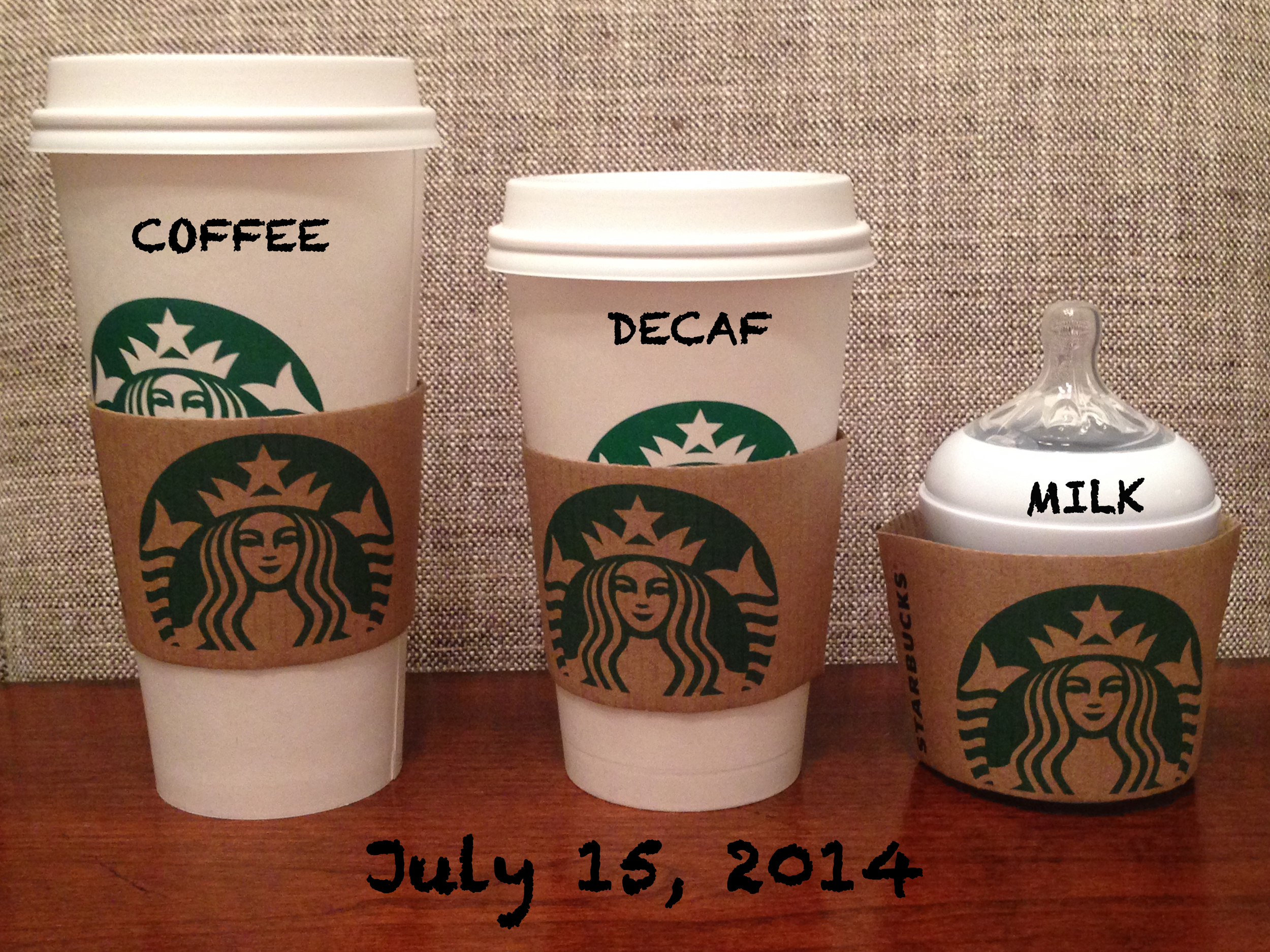 Starbucks Pregnancy Announcement 2014