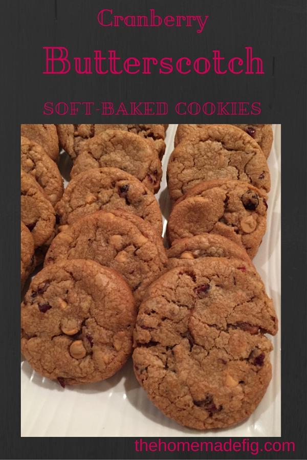 cranberry butterscotch cookie