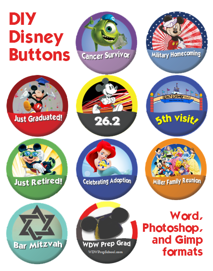 DIY instructions for making your own customized buttons!
