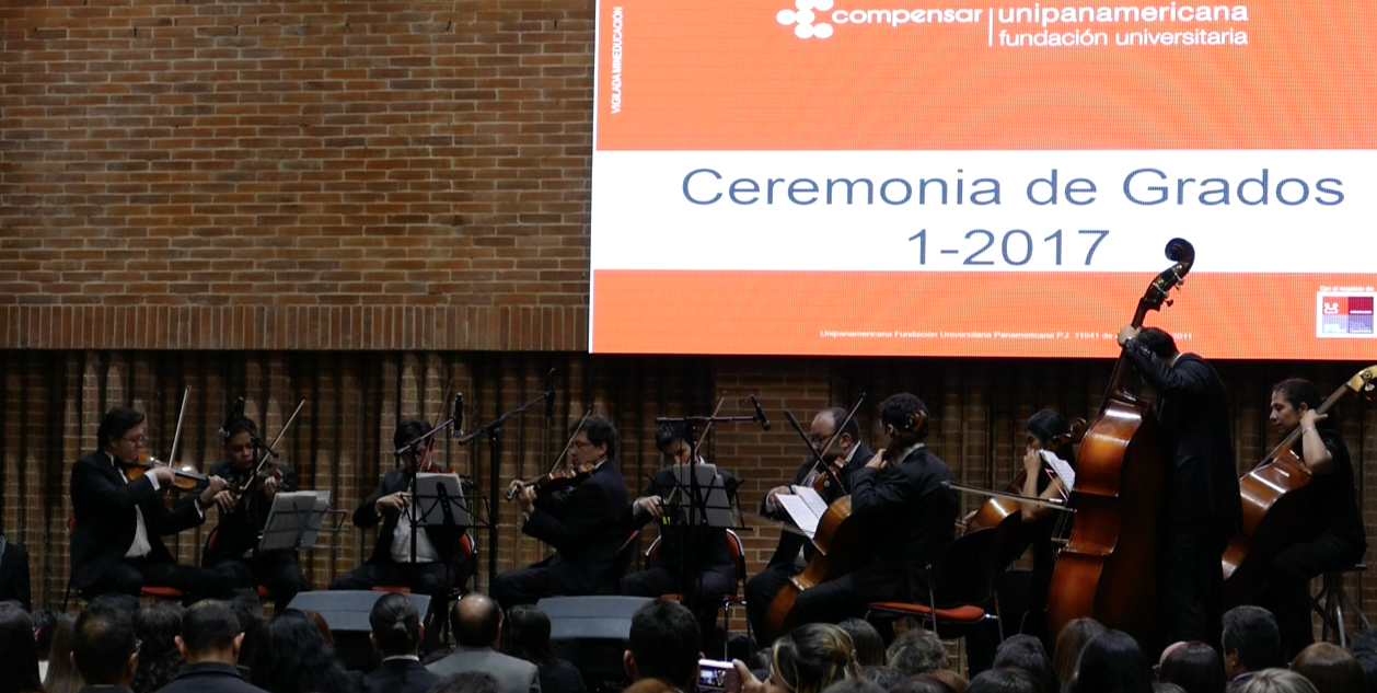 Orquesta de cámara para grados Unipanamericana 2017