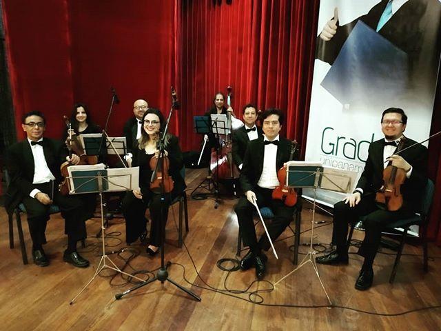 ¡Siempre es un honor para nosotros acompañar los grados de @unipanamericana con nuestra orquesta de cámara!