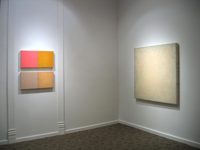 Robert Hoerlein  (installation in gallery), Gallery 51 East, Fairfield, Iowa, February 2002.