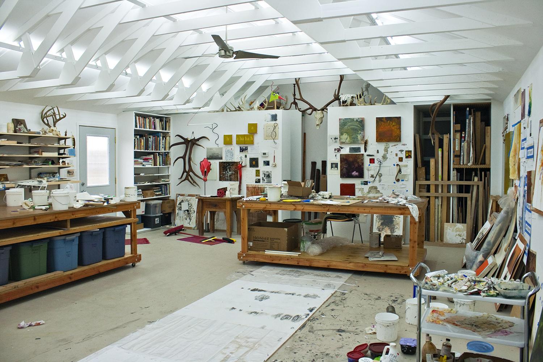 Robert Hoerlein studio , west wall, January 31, 2012.