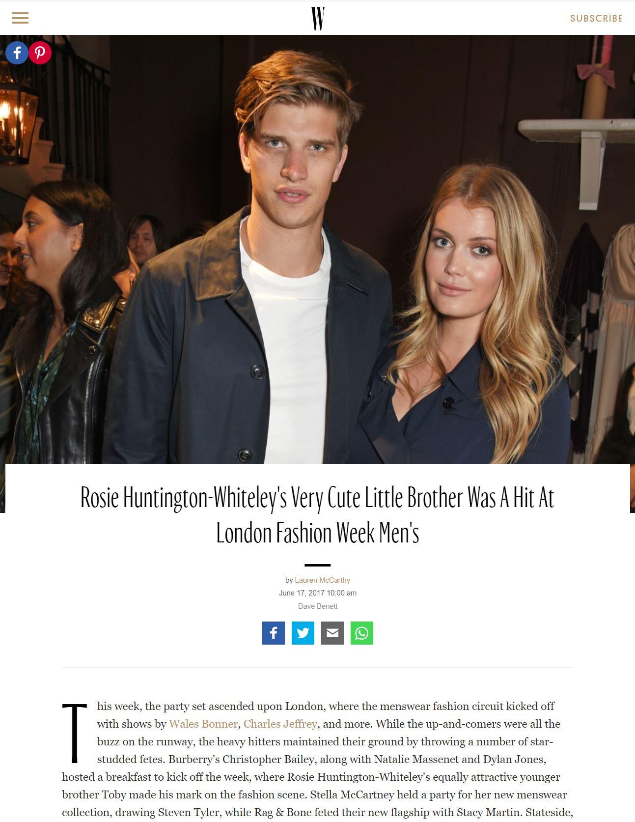 W MAGAZINE  | 6.17.2017 |  READ HERE