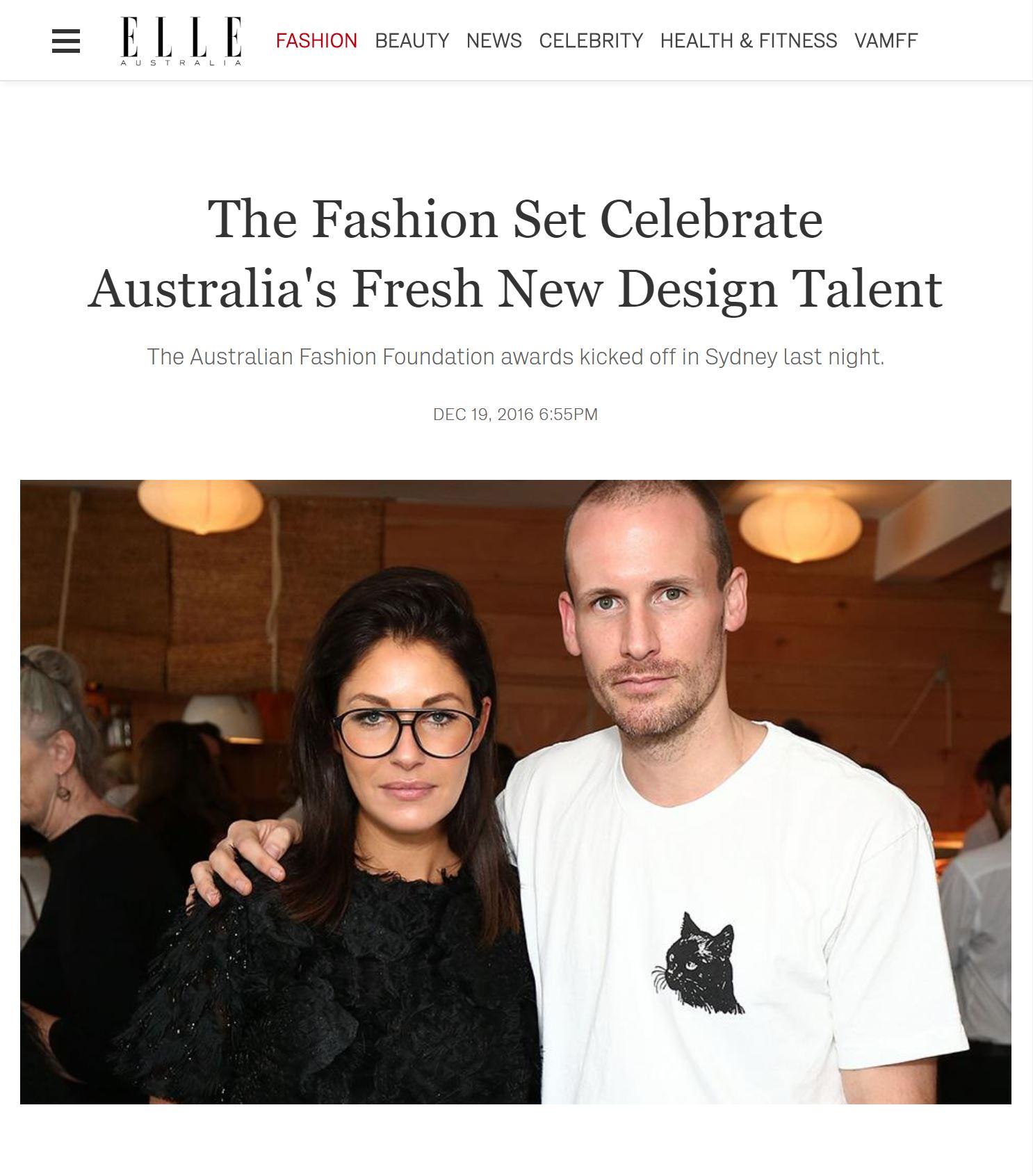 ELLE AUSTRALIA  | 12.19.2016 |  READ HERE