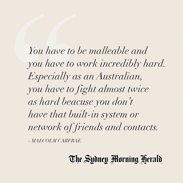 Thank you to @melly_singer and the @sydneymorningherald for your incredible support 🗞🇦🇺 Read the full interview with #AUSFF Co-Founder @mcarfrae online ✨ Link in bio #AussiesDoItBetter