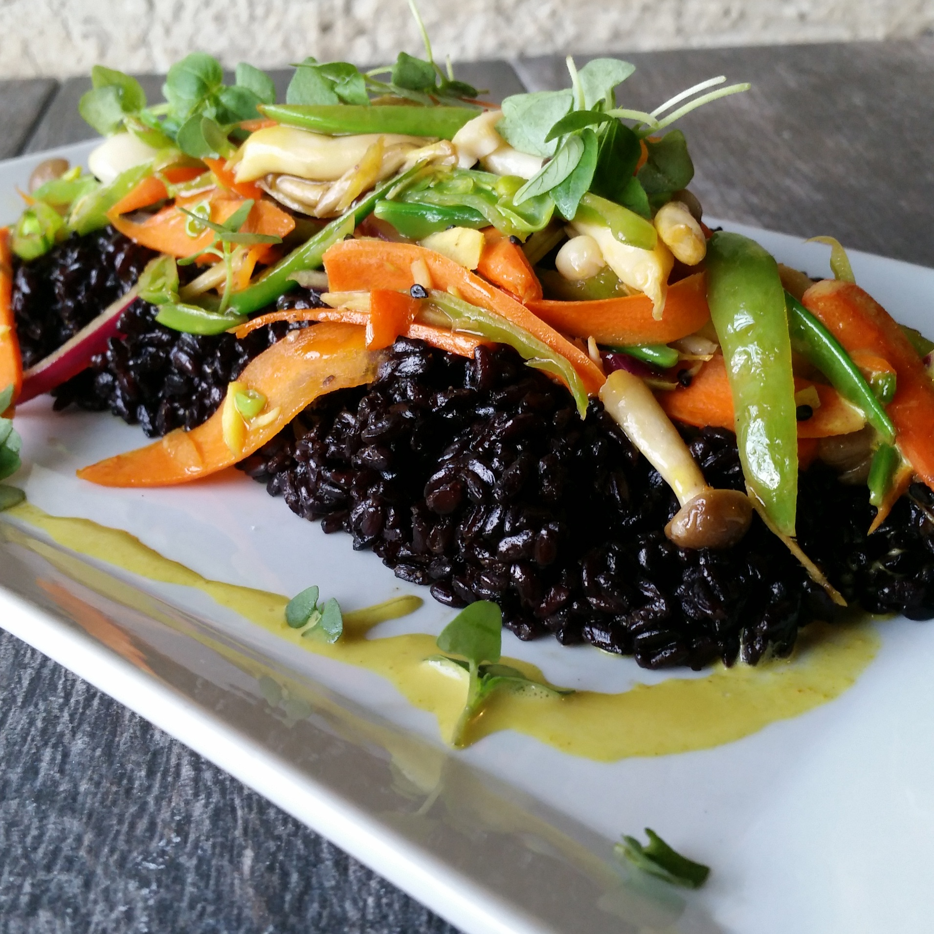 zest organic curry forbidden black rice