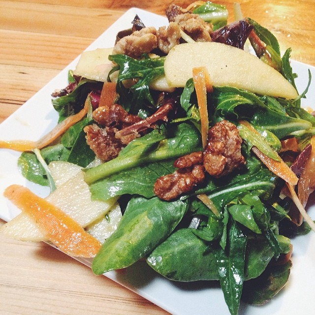 vegetarian pear salad