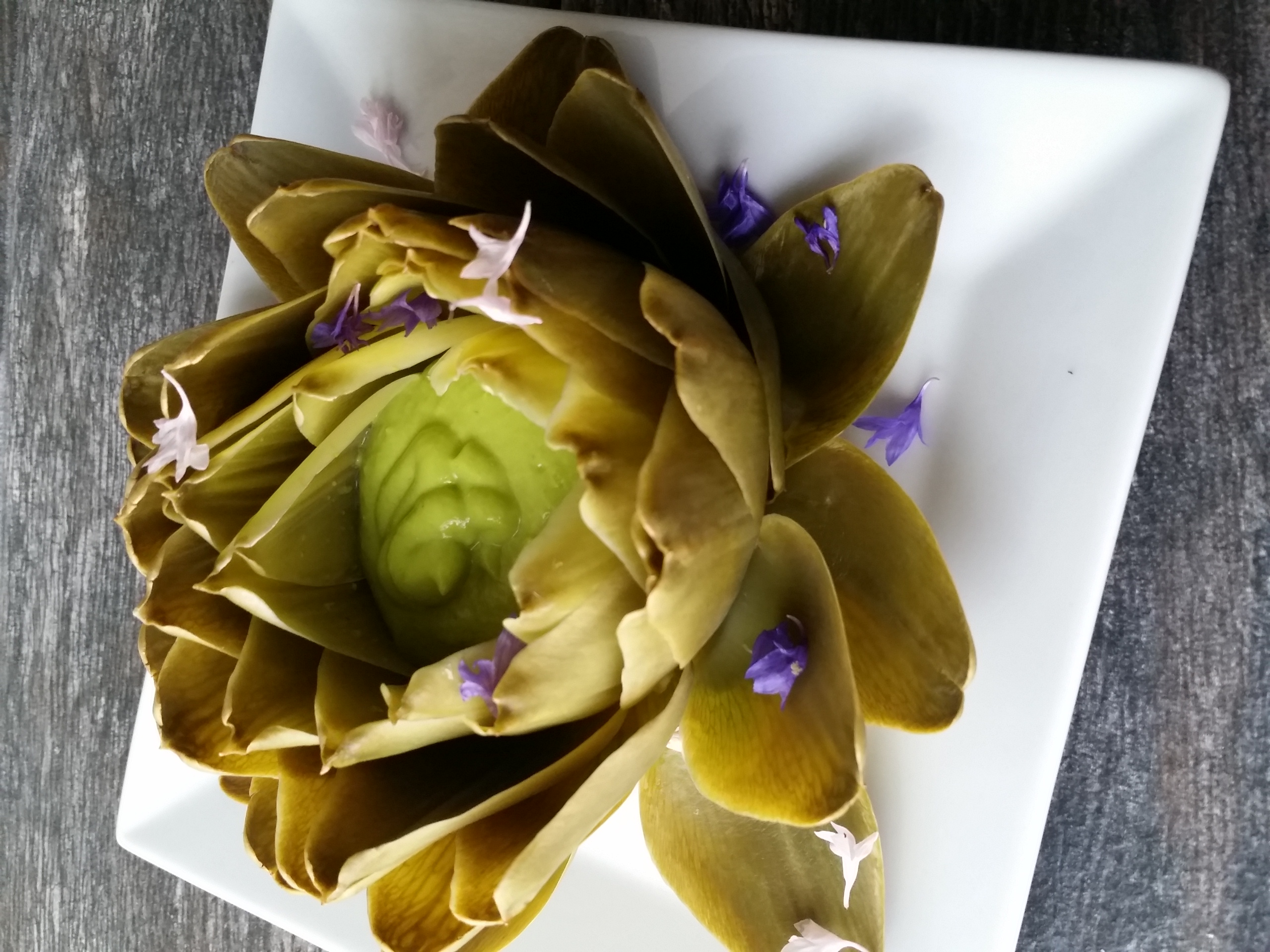 organic grilled artichoke