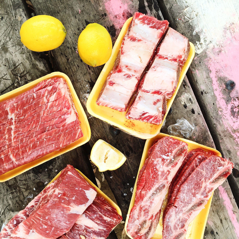 LA galbi + steak