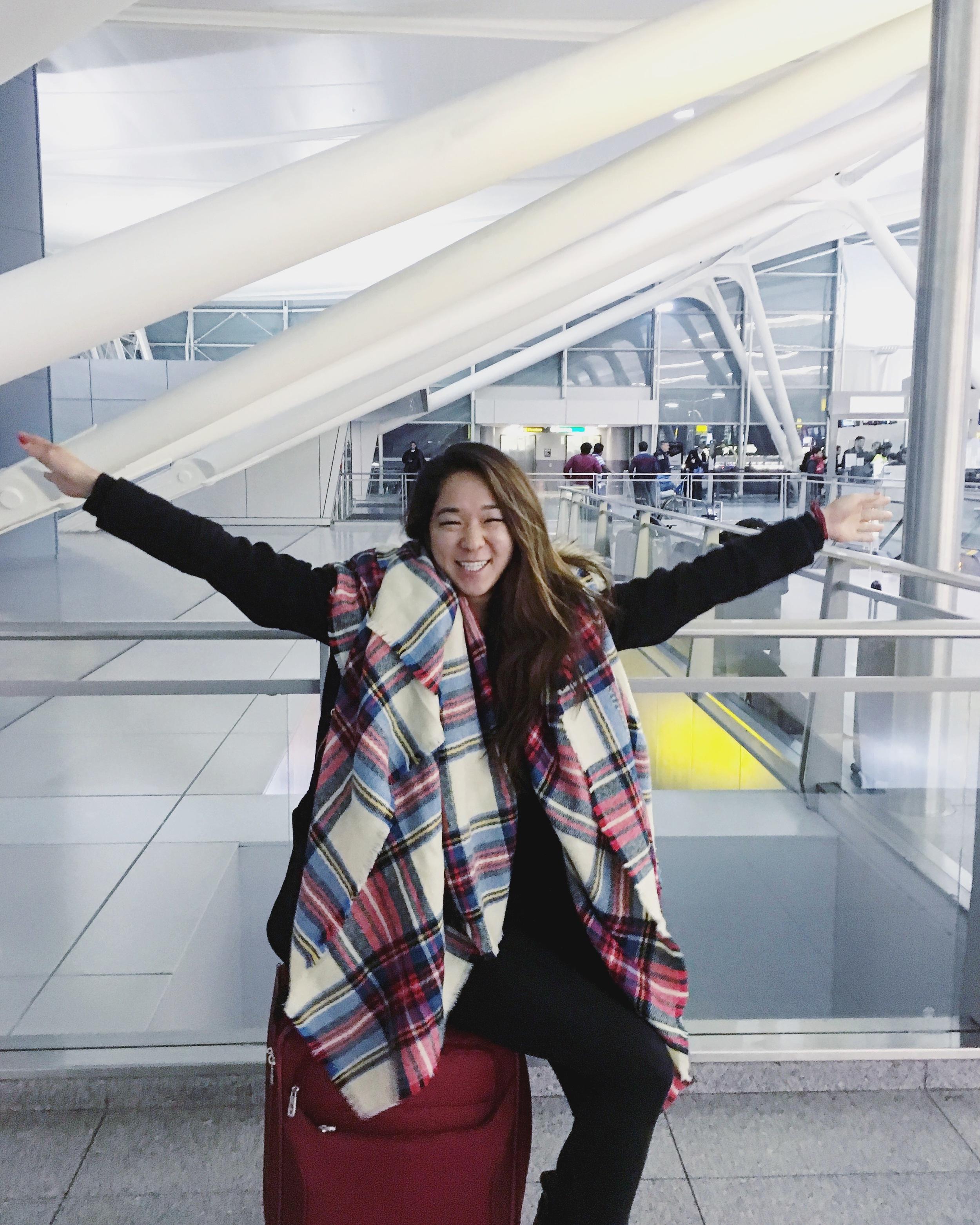 ASOS oversized plaid scarf