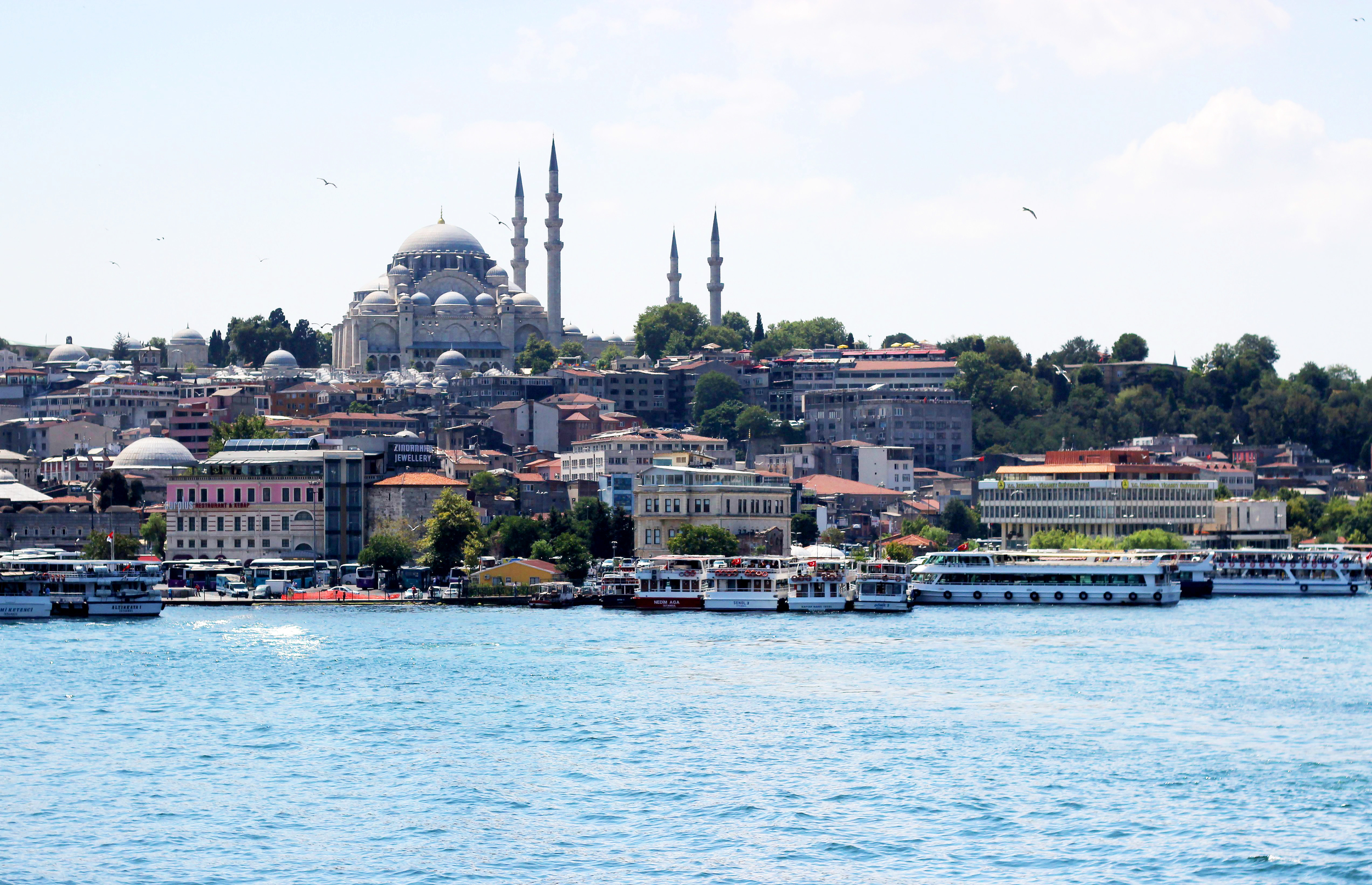 Views from the Bosphorus River Cruise