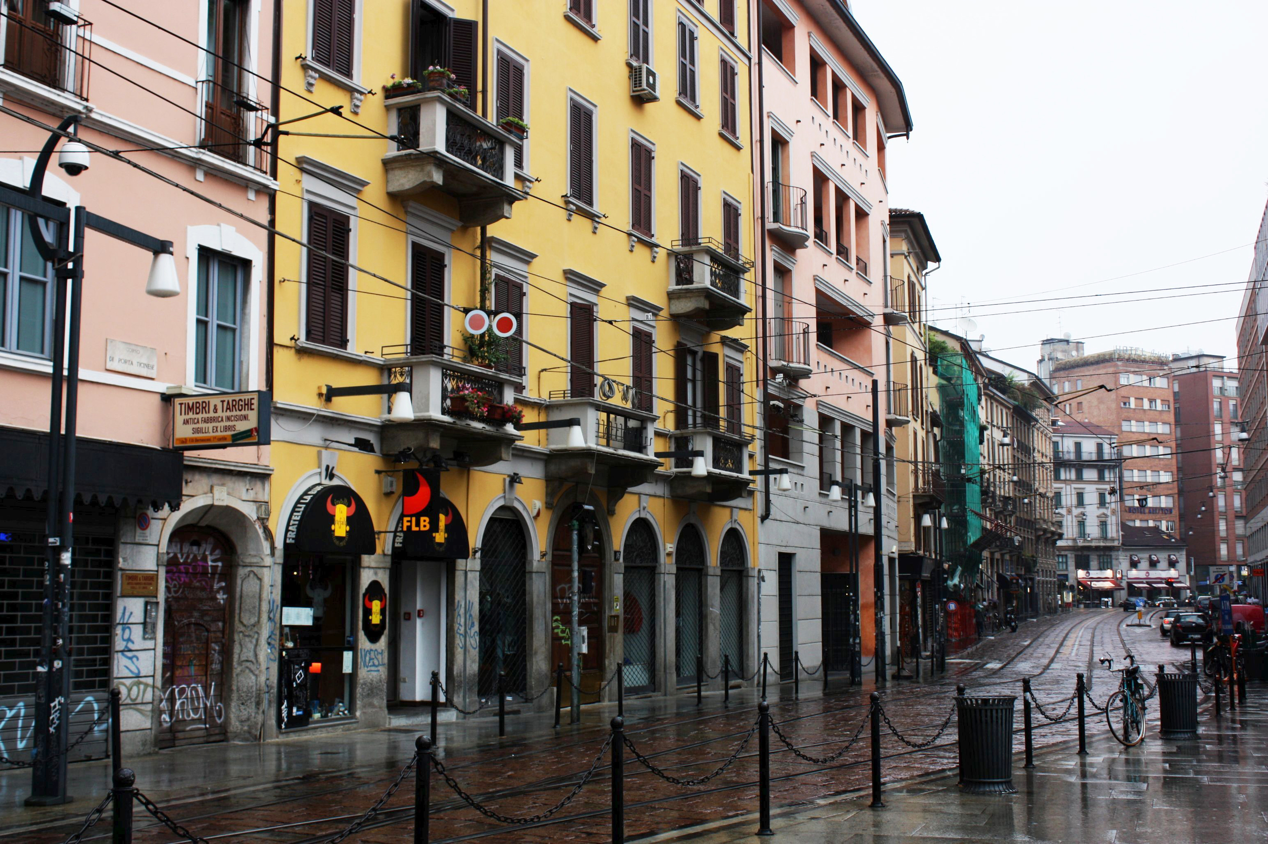 Shops along the streets: Corso Porta Ticinese