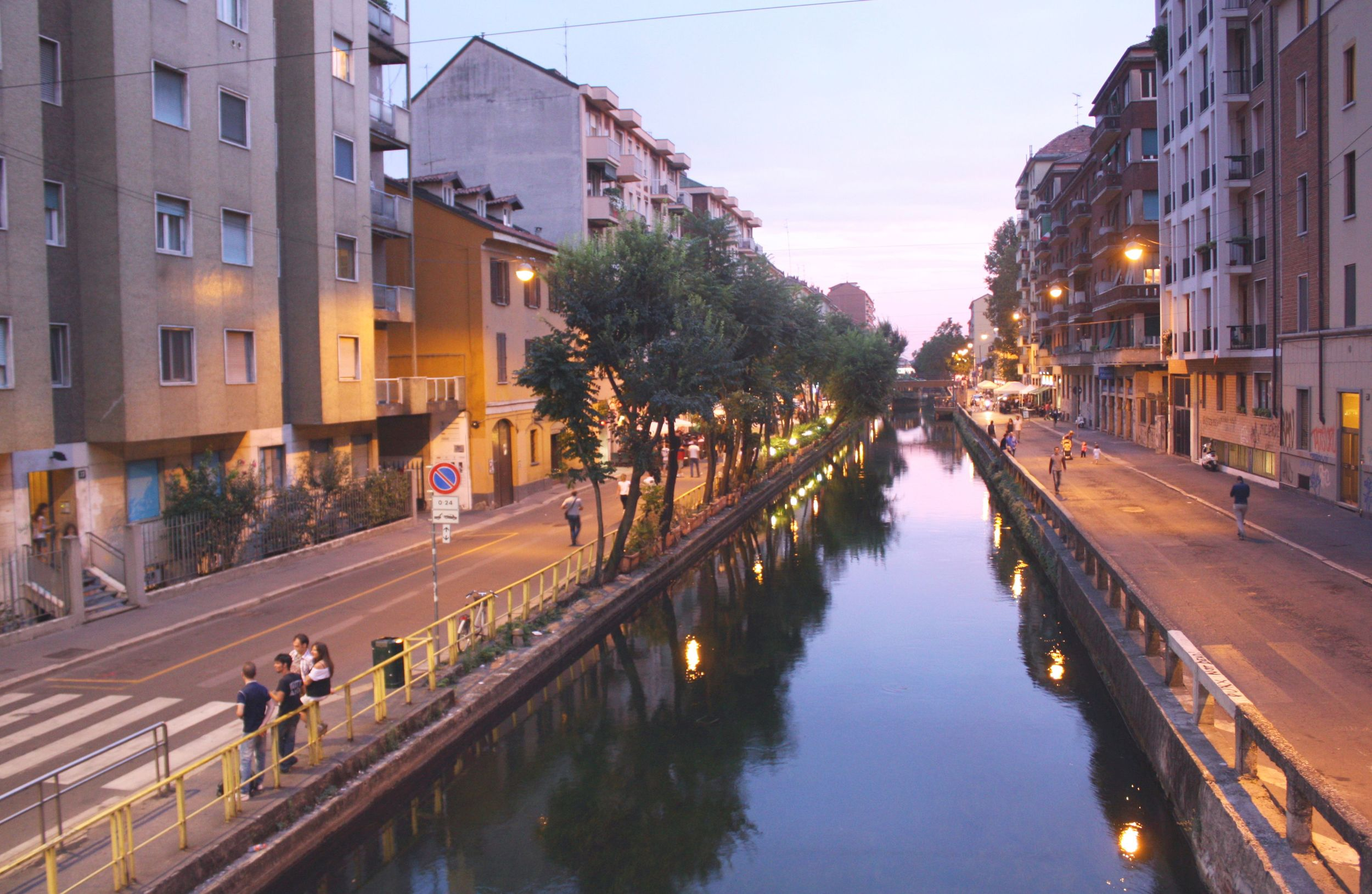 Navigli at sunset