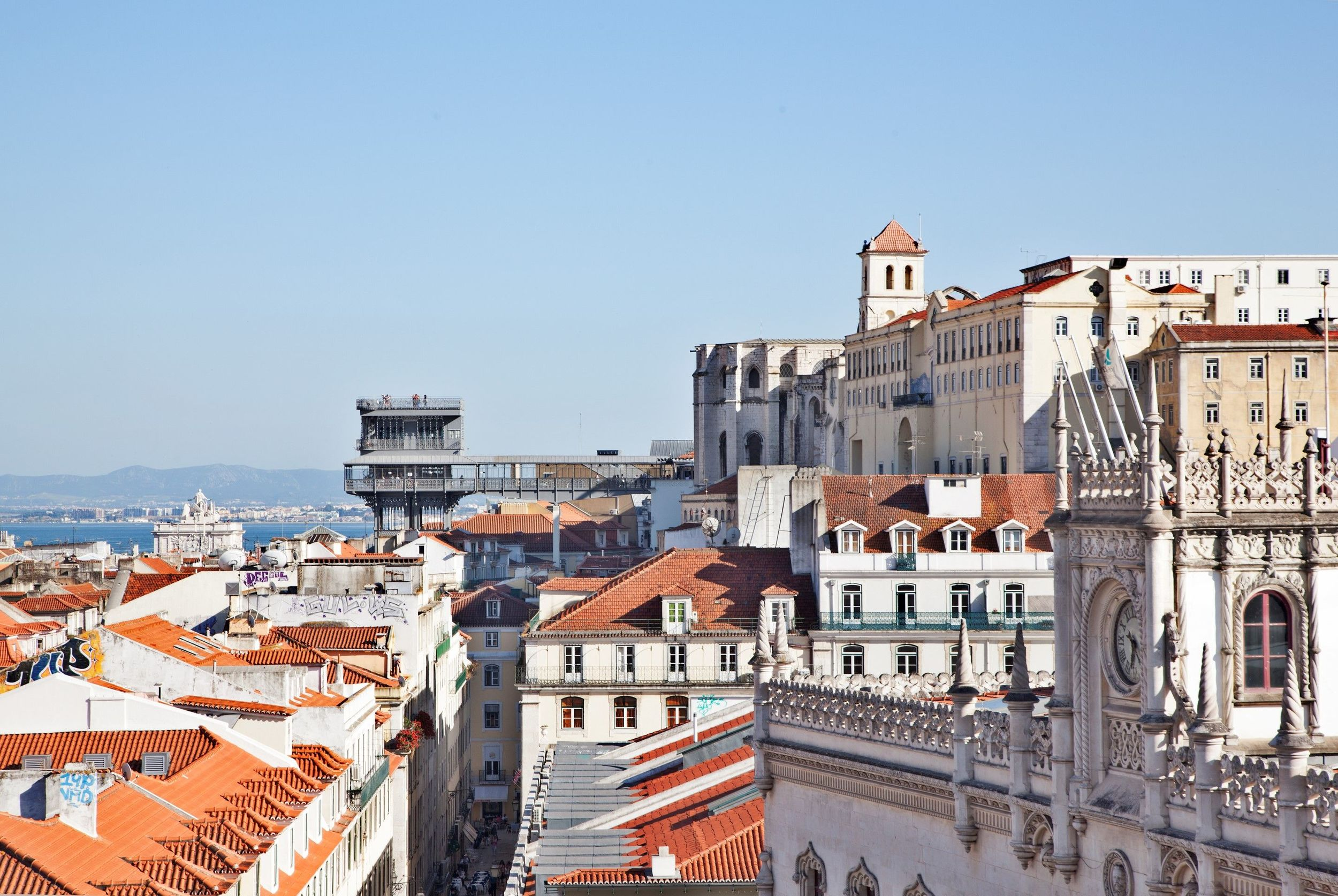 A final look over our rooftop towards the Tagus River