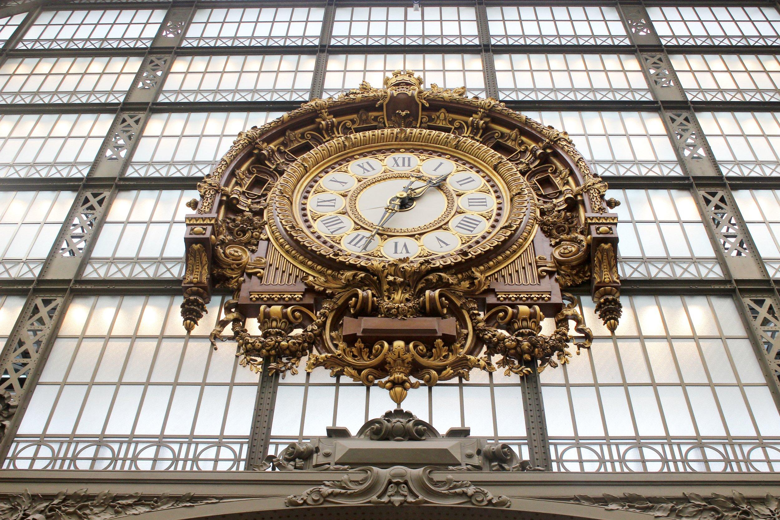 Beautiful clock at Musee d'Orsay
