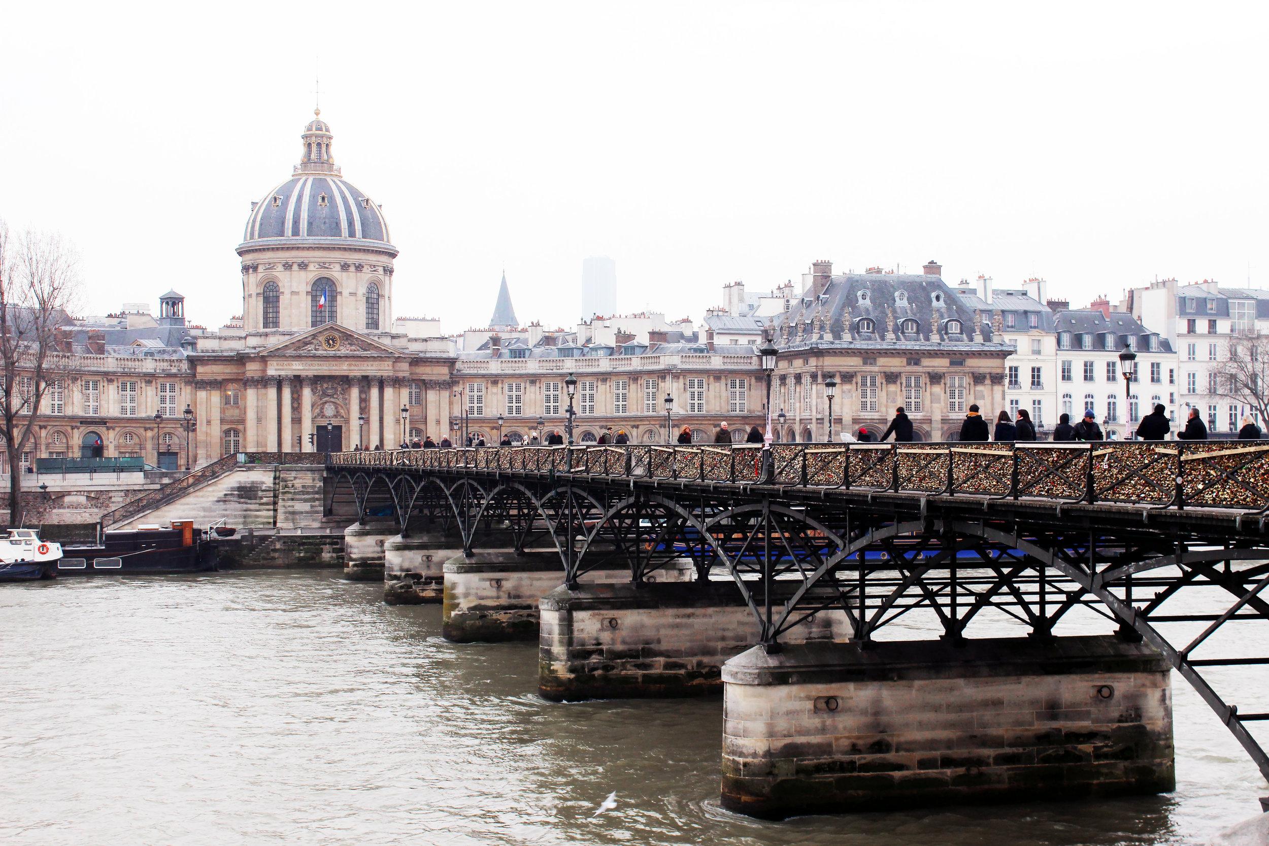 Love locks bridge at River Seine