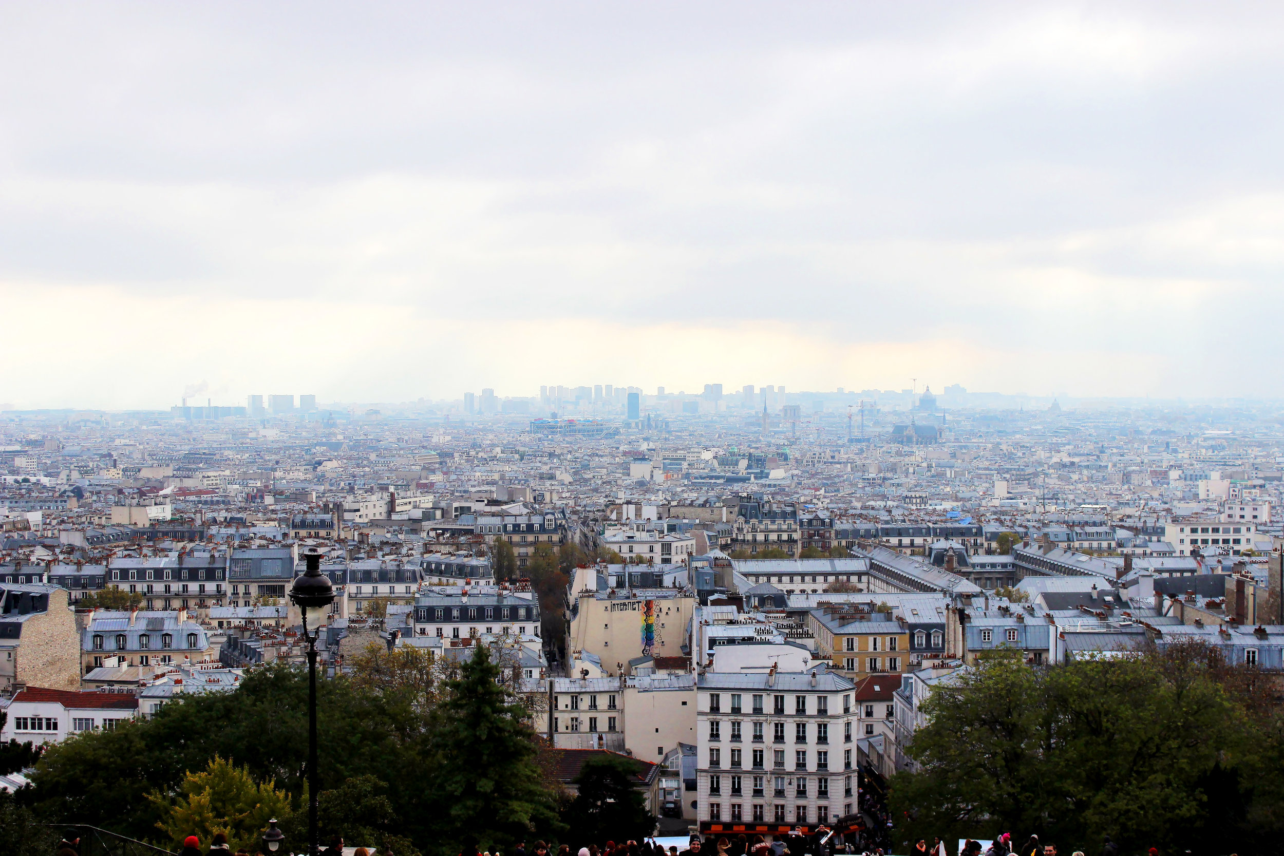 View from Sacre-Coeur in Montmartre