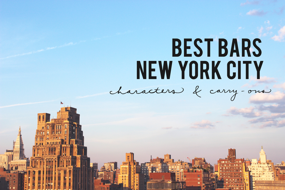 BEST BARS IN NEW YORK CITY
