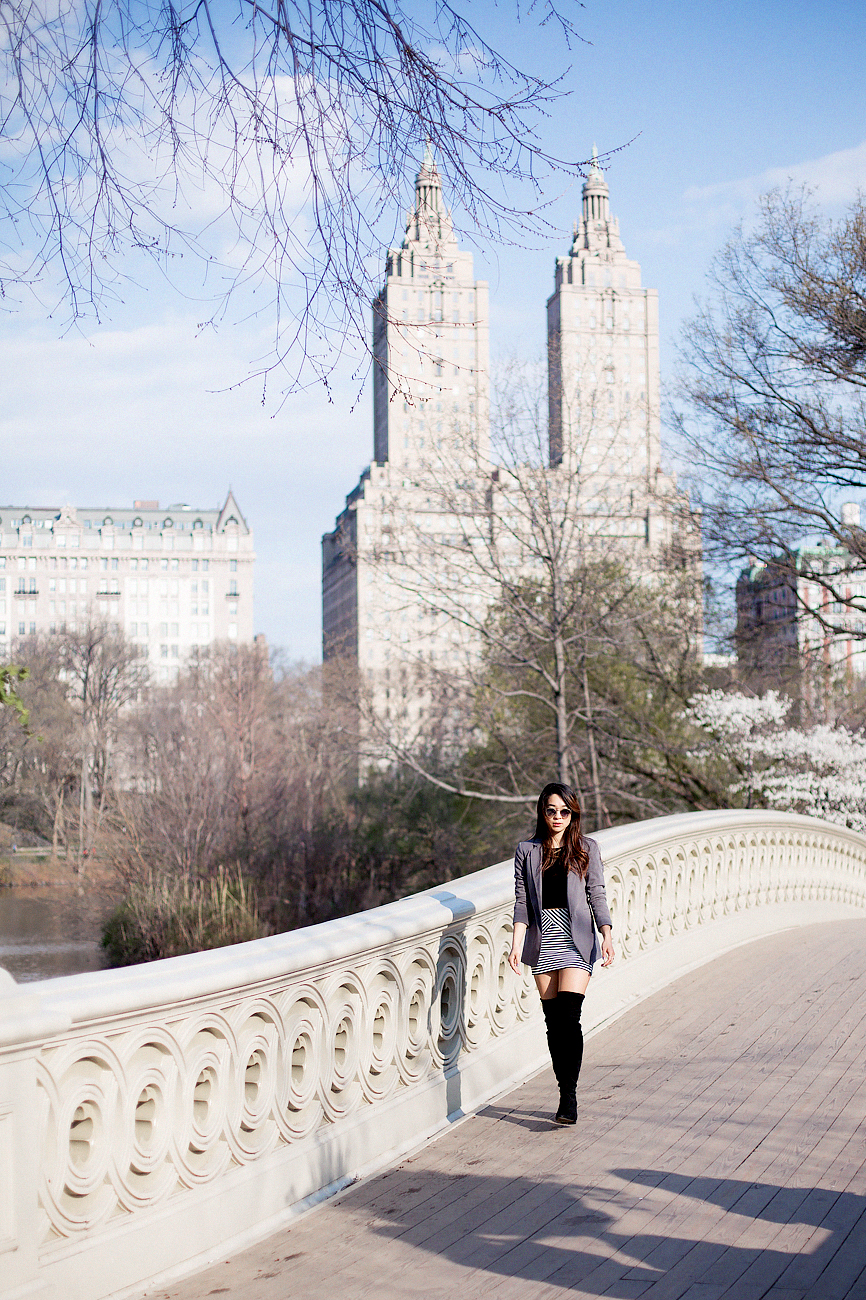 Central Park Spring Fashion Over the Knee Boots