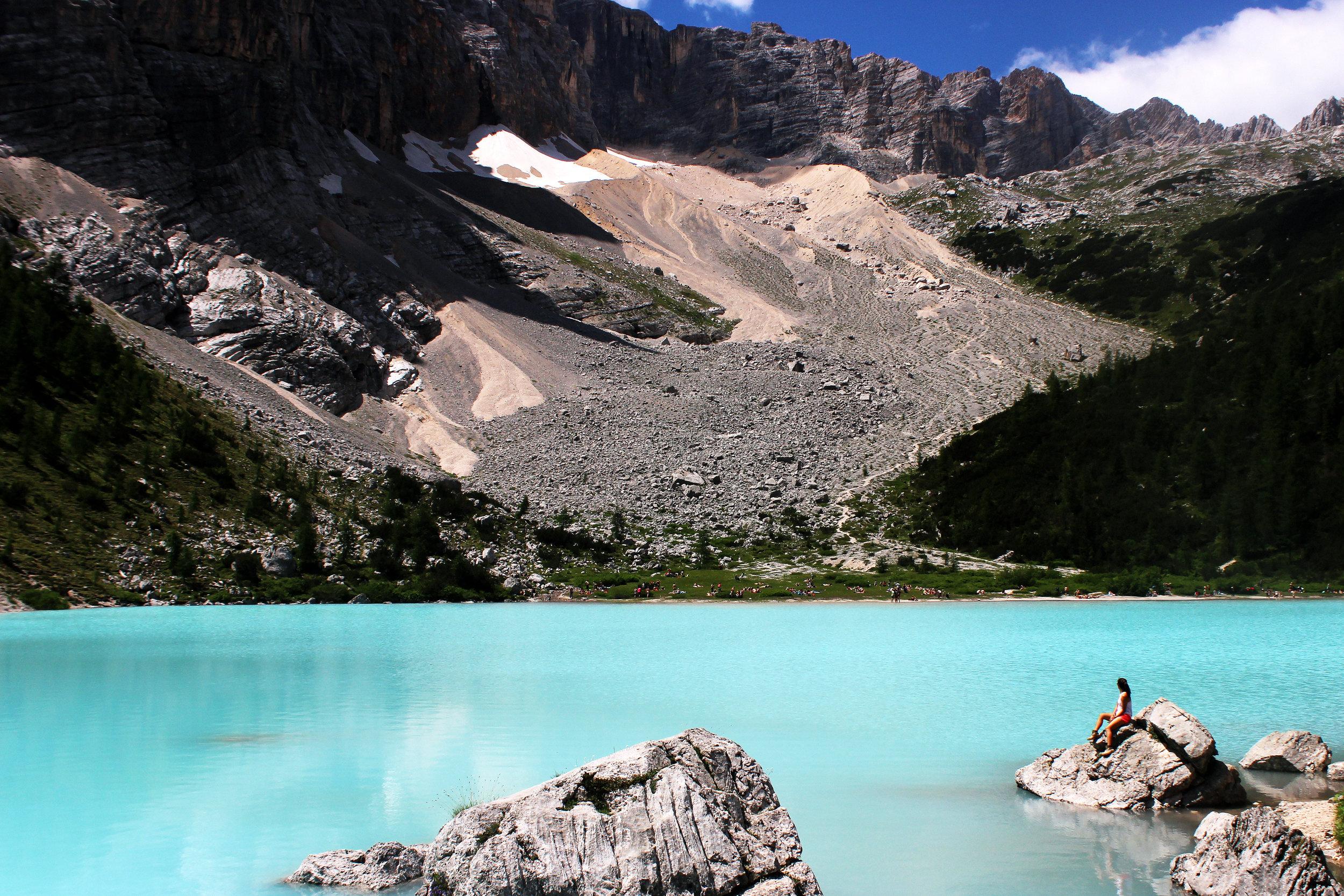 lago di sorapis, dolomites