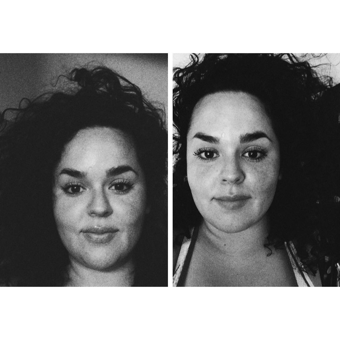 Night + Day #selfies The same,but hair-flip!